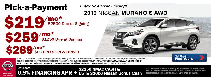 Nissan Murano Lease Deals >> Nissan Lease Deals 2020 Nissan Rogue 2019 08 20